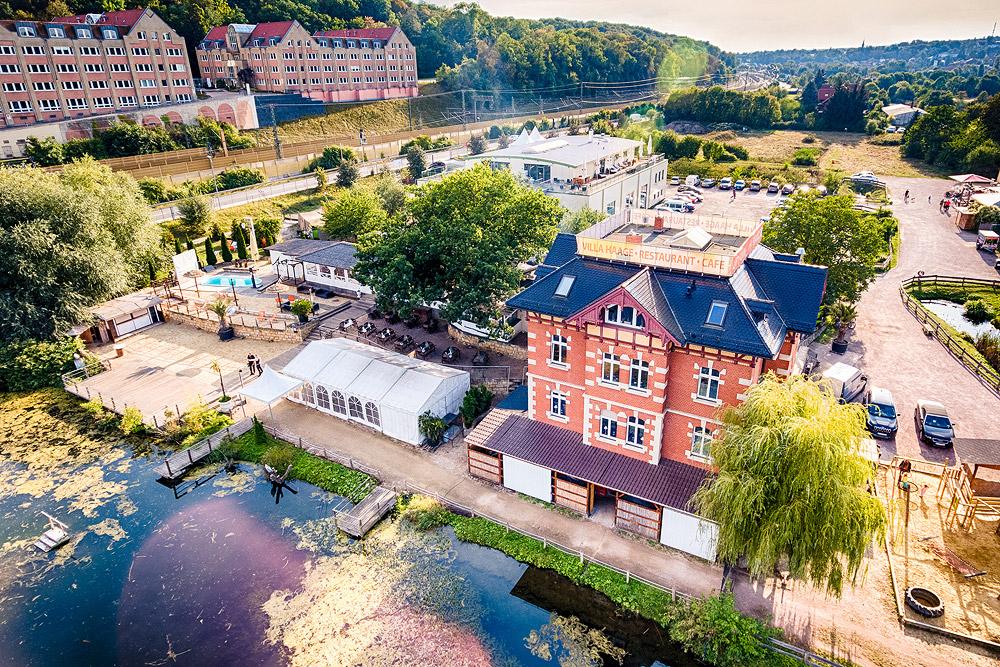 Villa Haage Kressepark - Luftbild