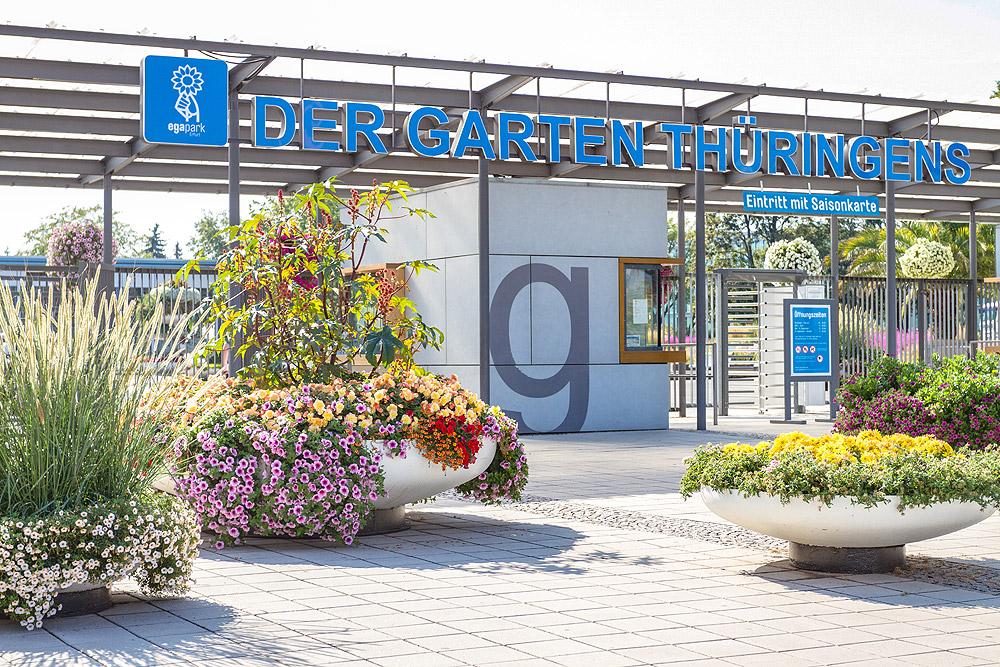 egapark Erfurt - Eingang