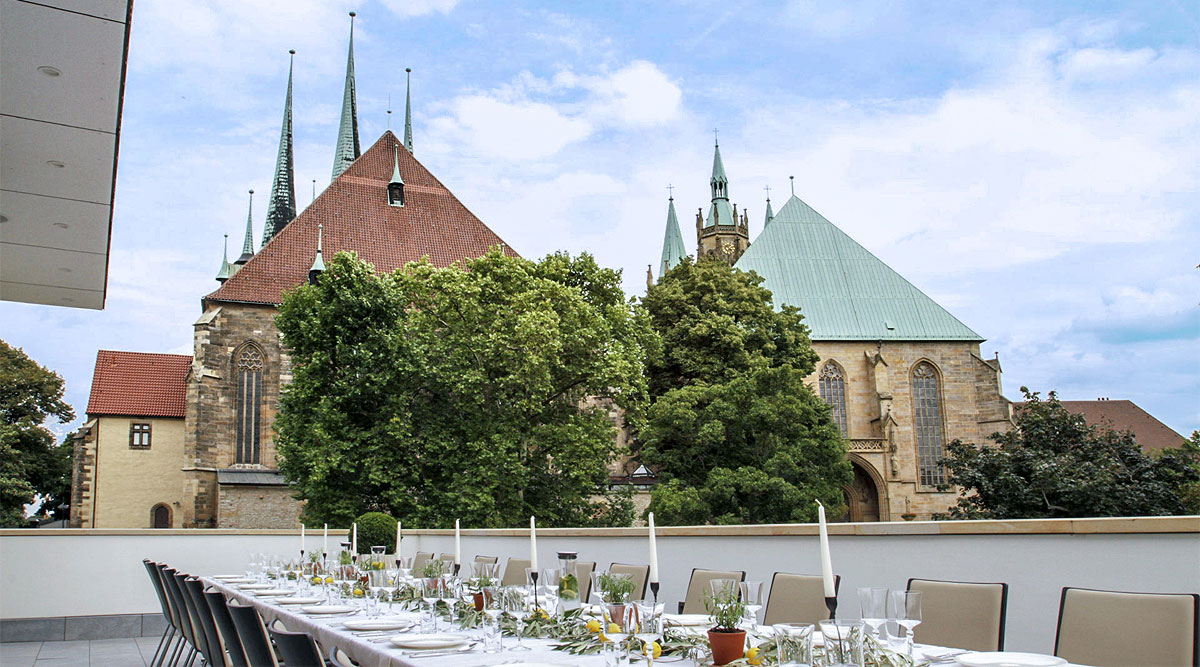Dompalais Erfurt - Terrasse