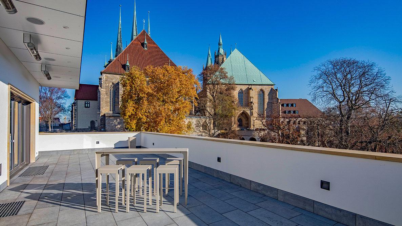 Dompalais Erfurt - Terrasse Herbst