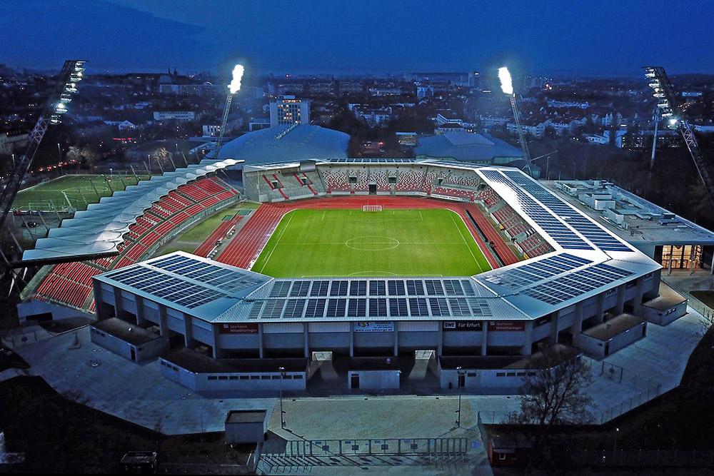 Steigerwaldstadion - Erfurt - Abendstimmung
